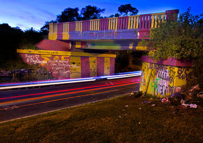 "Pensacolas' ""Graffiti Bridge"", it gets repainted every few days"