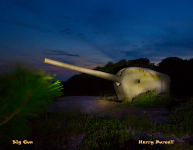 Ft Pickens, big guns, Canon 60D, f13, 8 sec, ISO 100 lit with Stanley 1 million watt light