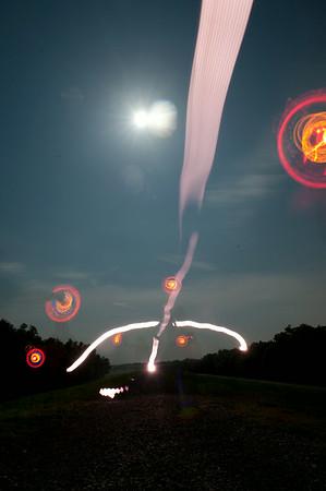 light writing, buck moon