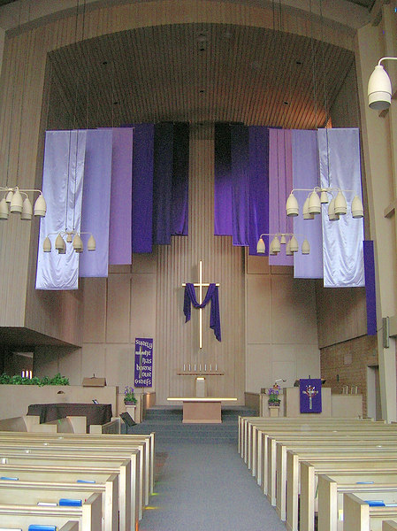 """From Light Into Darkness"" Lenten banners"