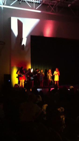 Olivia's Rock Band performance at Fine Arts Night at Meadowbrook May 2013
