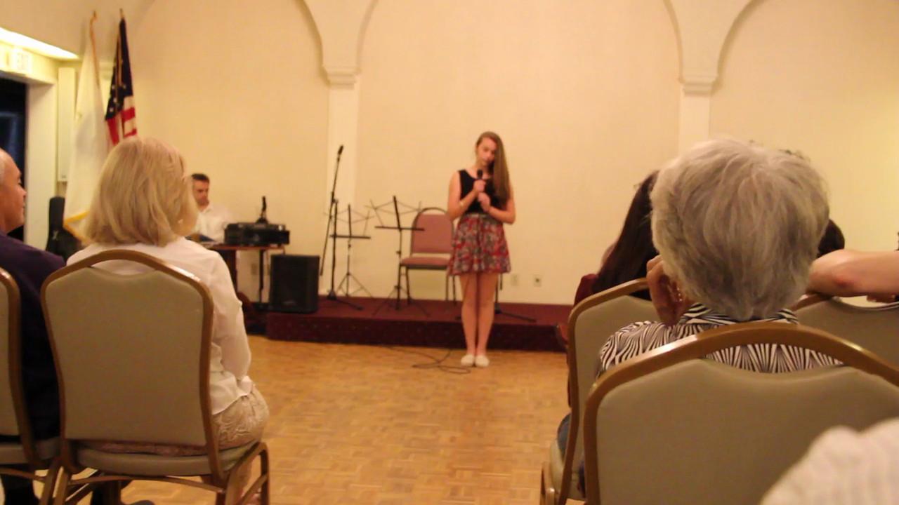 """Olivia's Voice Recital June 2013- singing """"Terrified""""."""
