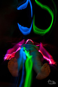 Light painted body paint 2