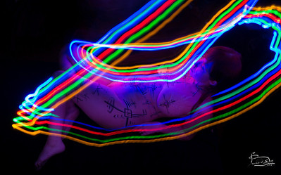 Light painted body paint 1