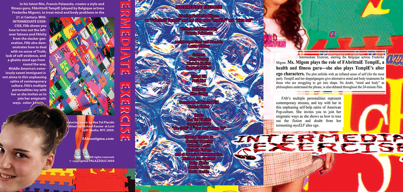 """DVD booklet pages, 7"""" x 12"""", 2005."""