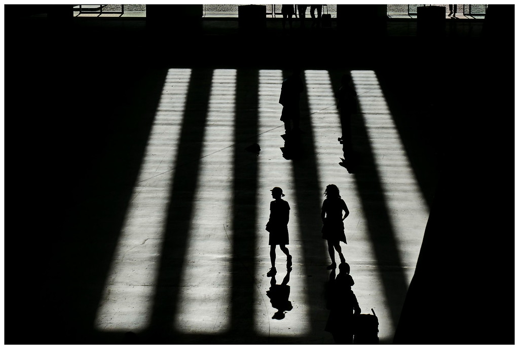 Silhouetted Figures - Tate Turbine Hall