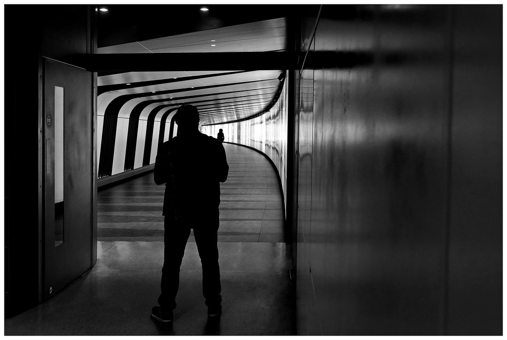 Figure in the Underpass - St Pancras