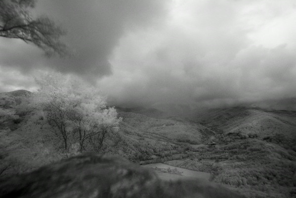 Infrared view from Plow Point in ,Plumtree, NC.