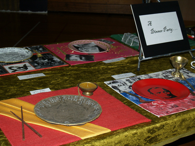 Dinner Party - Place Setting for the Dalai Lama; Lydia Yoder
