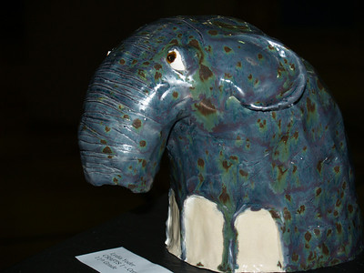 """""""Paisley"""" -  Stoneware (coil-formed).  Lydia Yoder."""