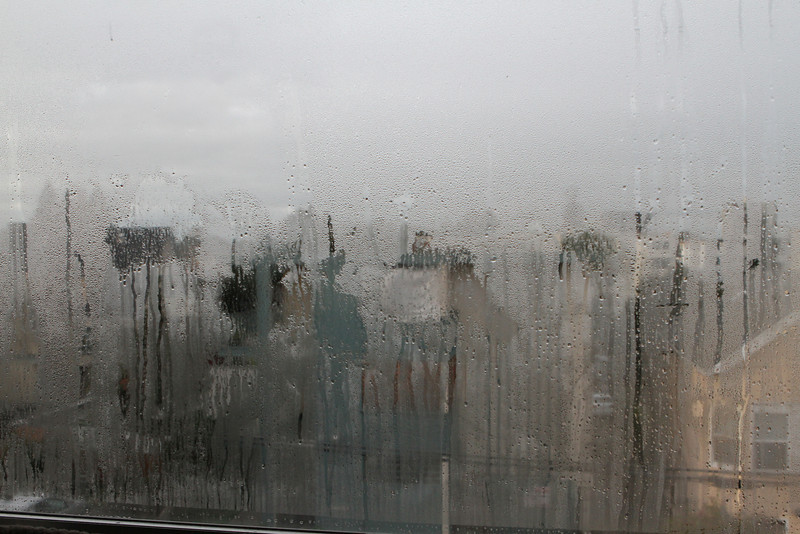 Condensation on the inside -the artist's palette gets moody.