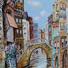 Pizza Shop Mural of Venice, Oakland, CA