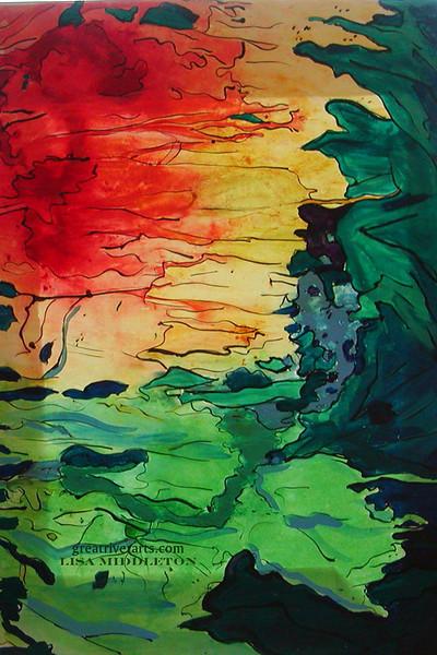 Sun Flowers, Fine Art Magnet by Lisa Middleton