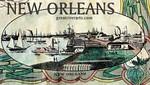Historic New Orleans Magnet, Fine Art by Lisa Middleton