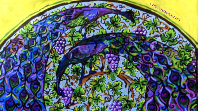 Peacock Fine Art Magnet by Lisa Middleton