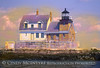 Rockland Breakwater Light, Maine; digitally manipulated photograph