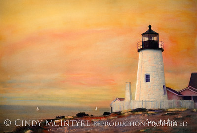 Maine Lighthouses Hand-Painted