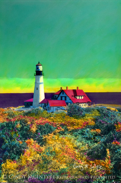 Portland Head Lighthouse in autumn, Maine