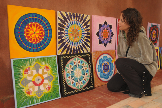"""2 years ago we organized a 4 day workshop in Mandala painting with Swedish artist and musician Erik Grind, assisted by Ann Marie Grind and Monica Prentice. In the Resdience d'Artiste Al Maqam, owned by Mourabiti A bi-cultural experience.<br />  <a href=""""http://www.mandalas.nu"""">http://www.mandalas.nu</a>"""