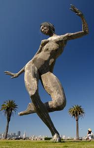 'Bliss Dance' by Marco Cochrane - a 40' sculpture - Treasure Island