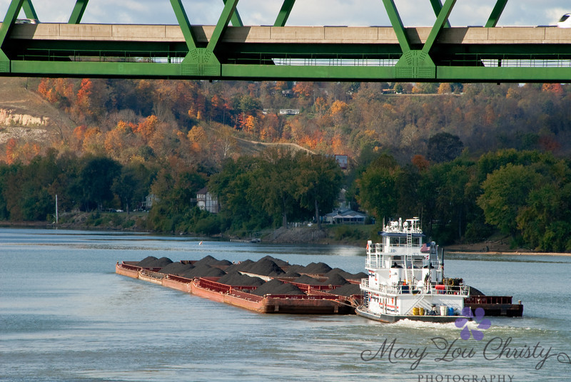 Barge on the Ohio