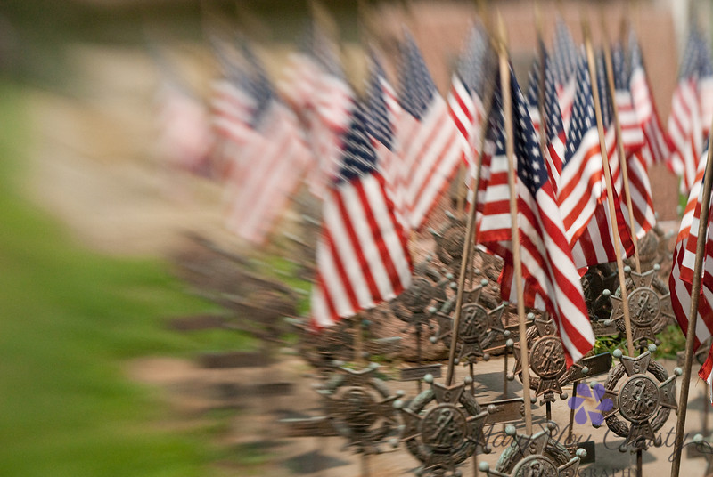 Medals for the heroes. Taken with a lensbaby.
