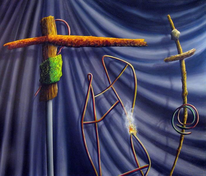 MWeber oil & Alkyd on canvas 46 x 52