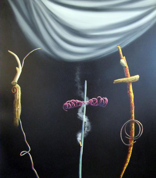 MWeber oil & Alkyd on canvas 45 x 45