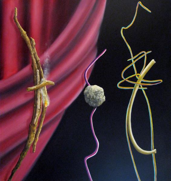 Mark Weber oil & Alkyd on canvas 45 x 45