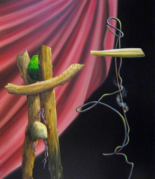 Mark Weber oil & Alkyd on canvas, 52 X 46