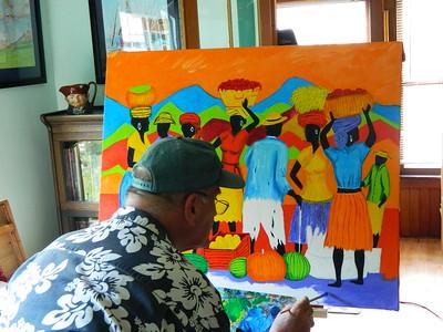 Market Day - Kingston, 30x36, oil, july 6, 2016 DSCN0100