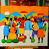 Market Day - Kingston, 30x36, oil, july 5, 2016 DSCN0096 - test colors