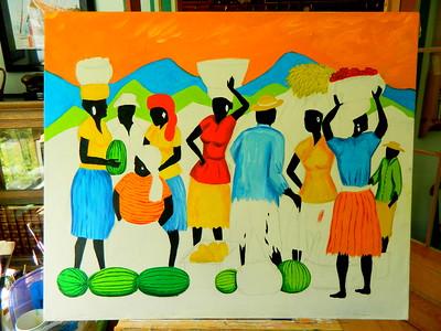 Market Day - Kingston, 30x36, oil, july 4, 2016 DSCN0092