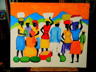 Market Day - Kingston, 30x36, oil, july 5, 2016 DSCN0095