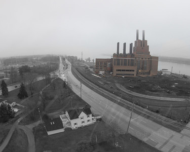 Mighty Marysville Coal Power plant -Detroit Edison - Demolition- Michigan - Demo