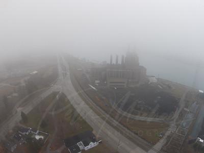 Mighty Marysville Power Plant Detroit Edison, St.Clair River,