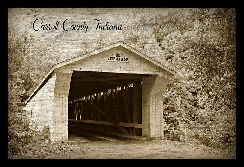 Postcard of Adams Mill Covered Bridge