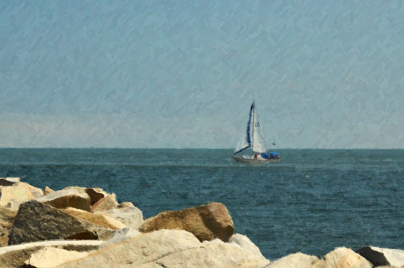 Sailboat on the Chesapeake Bay