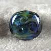 Blue and purple Nebula series bead, large round tab