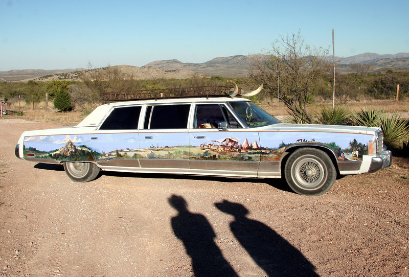 J & B and their West Texas Limo