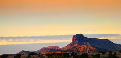 Cathedral Mtn. In the morning light Rachael Waller Photography Alpine Texas