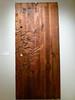 Early JAMES HUBBEL organic door carving.