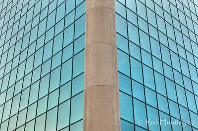 Abstract view of office building windows.