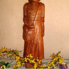 Wood carving of Mother Brunner.
