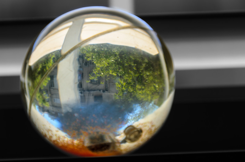 Ball with refraction
