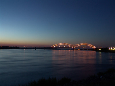 Mississippi River nightime
