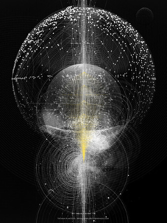 Tatiana Plakhova, has created some rather stunning works of art centered around data visualization.