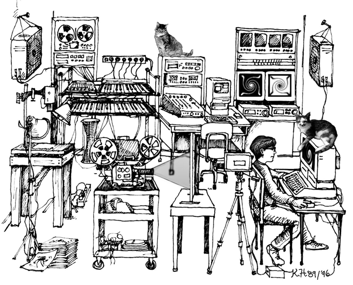 Illustration for Thesis Cover on Synthetic Arts, 1989