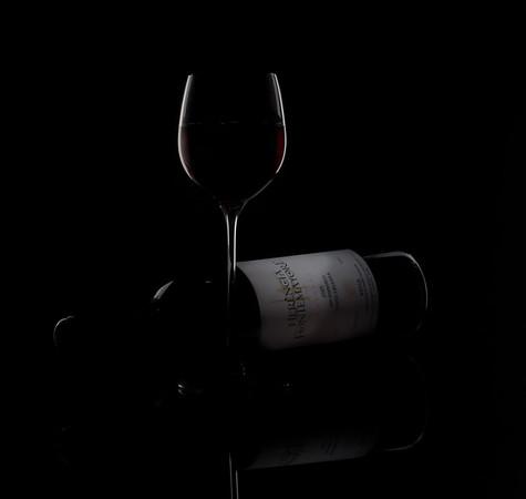 Wine Glass and Bottle Lighting Shots