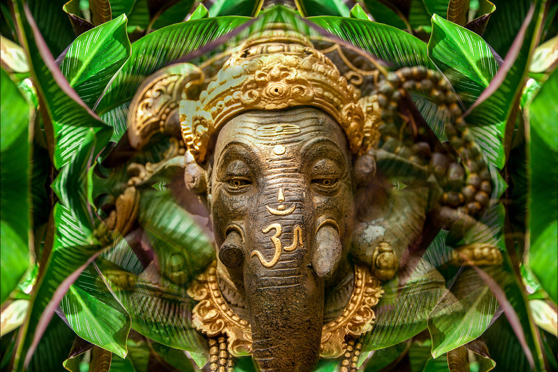 Green Ganesha - After the Rain